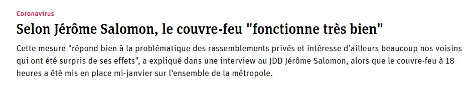 Jérôme Salomon ment