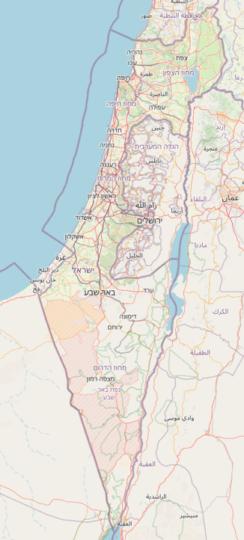 Israël vu par OpenStreetMap