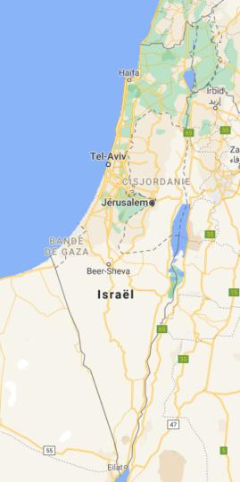 Israël vu par Google Maps