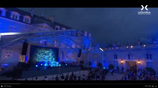 La fête dela musique à l'Élysée (Jean-Michel Jarre)